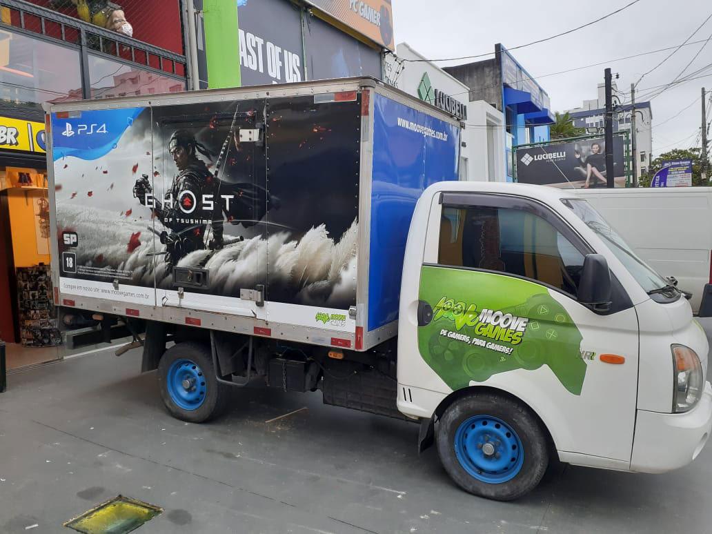 Adesivagem caminhão PlayStation