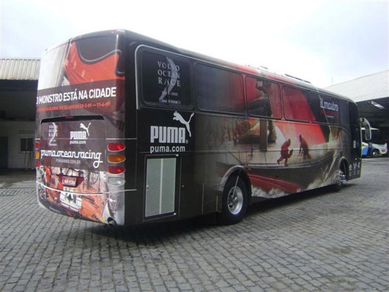 Adesivagem Ônibus Puma
